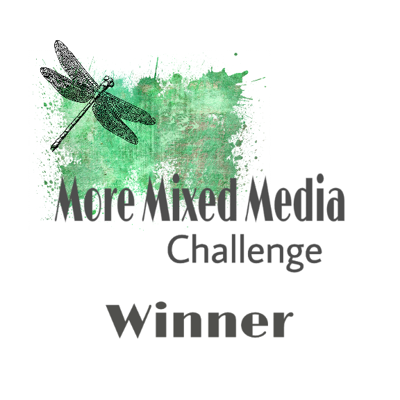 Winner - Mixed Media Challenge Brights Aug 2018
