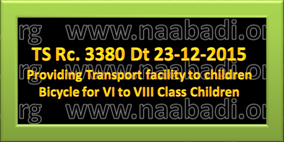 TS Rc 3380 Transport facility for I-V class children, bicycles for VI-VIII class Children(www.naabadi.org)