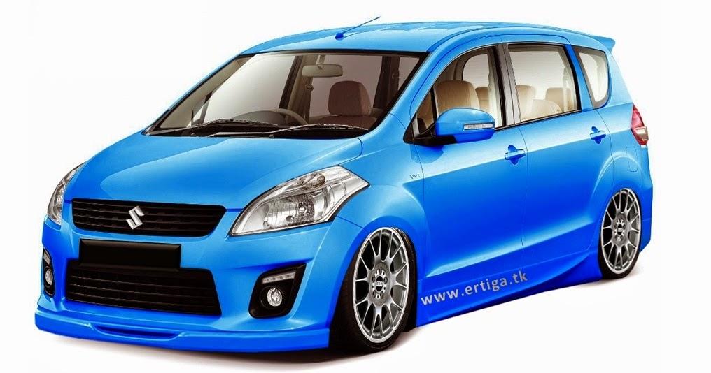 Foto gambar modifikasi mobil ertiga terbaru warna biru ...