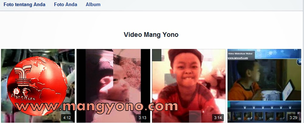 Saya ambil contoh di vidio facebook akun Mang Yono