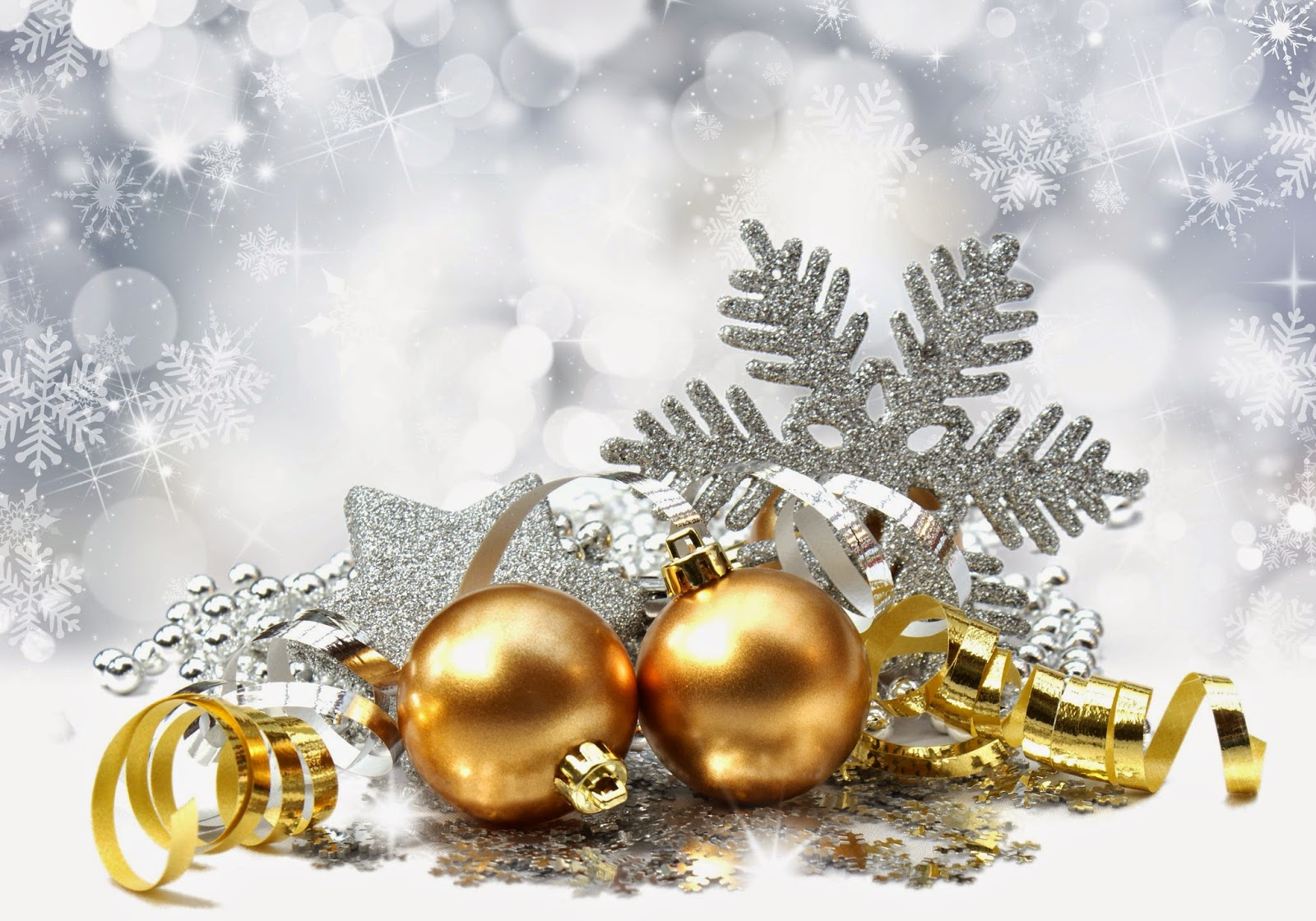 Golden-Christmas-balls-with-silver-snow-flakes-background-wallpaper-HD-image.jpg