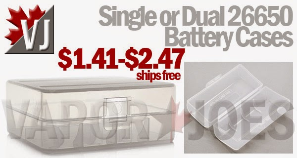 Safe Storage - Single or Dual 26650 Battery Cases