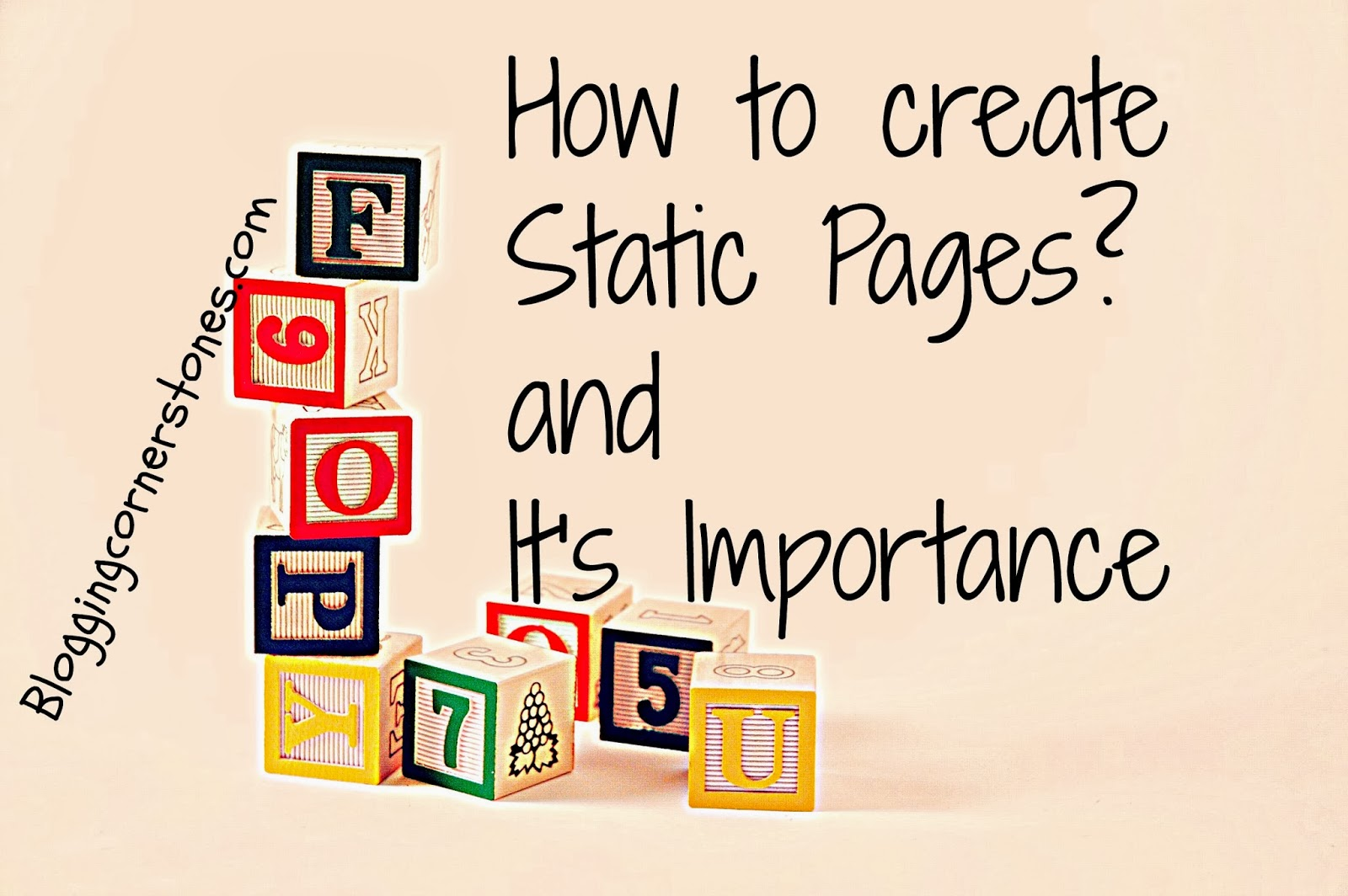 How to create Static pages in Blogger