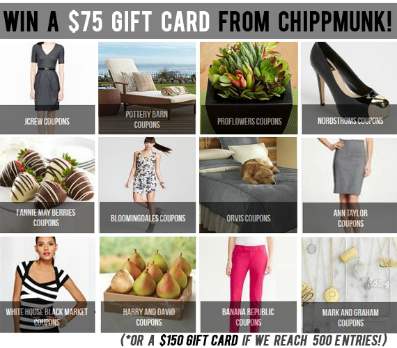 Win a $  75 Gift Card to the Shop of Your Choice from Bubby & Bean and Chippmunk!