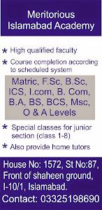 Meritorious islamabad academy