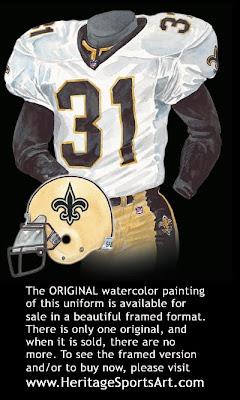 New Orleans Saints 2000 uniform