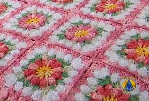 Loja Artesanato Rio De Janeiro ~ Tapete De Croche Com Flores Em Barbante Barroco Car