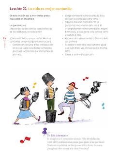Lección 21 La vida es mejor cantando - Educación Artística 6to Bloque 5 2014-2015