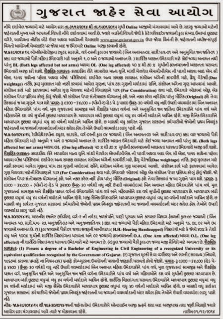 GPSC RECRUITMENT FOR VARIOUS POSTS