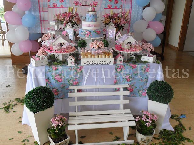 decoracao de aniversario tema jardim encantado:Feliz Provence Festas: Batizado + 1º aninho: Jardim Encantado