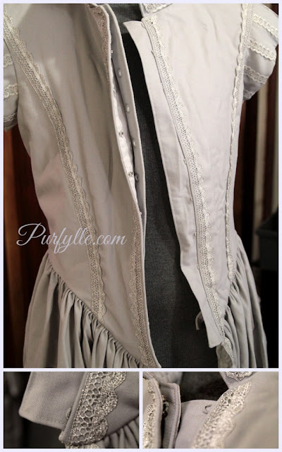 Dorothea Maria Von Sulzbach style gown c1639 - complete and in need of an iron