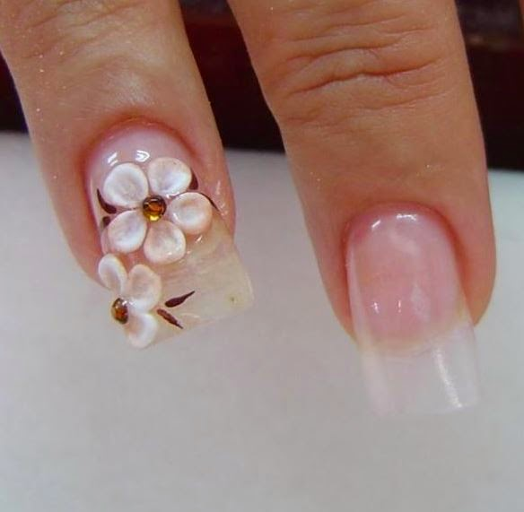 Beautiful Luxury Acrylic Nail Art Designs With Rhinestones | The ...