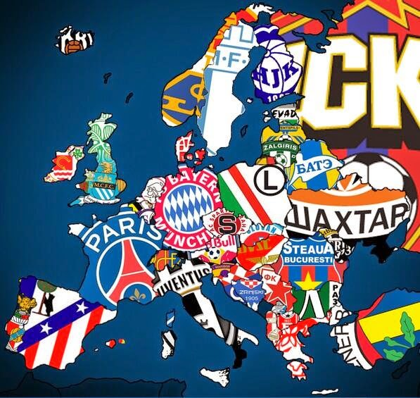Carte champions Insolite-Foot La géographique des d'Europe -