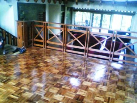 Pemasangan Lantai Kayu on Villa Ciwidey Bandung Project Pemasangan Lantai Kayu Mozaic Di Villa