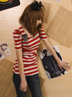 Wholesale Fashion Tops D2274 Red Model