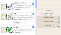 Cara Memasang Widget di Blogspot | Blogger