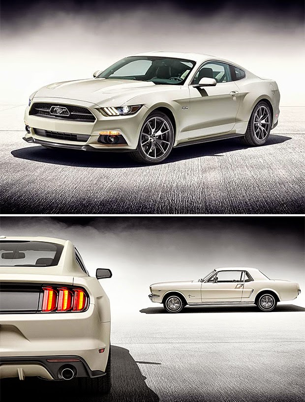 "2015 Ford Mustang 50th Anniversary Edition The mighty ""Ford Mustang"" turns 50 this year. For ""Ford Mustang"" golden anniversary. they made a (2015 Ford Mustang 50th Anniversary Edition) Special Edition model."