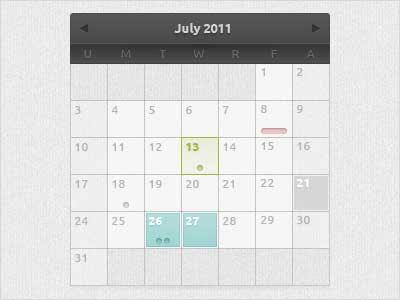plantillas de calendarios gratuitos en PSD
