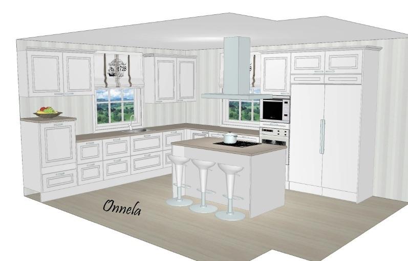 Onnela Kodinhoitohuoneen, keittiön ja eteisen kalusteet