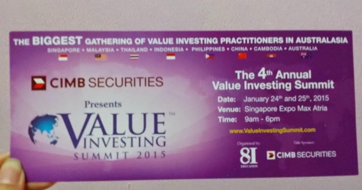 Rachel的秘密花园: Value Investing Summit 2015