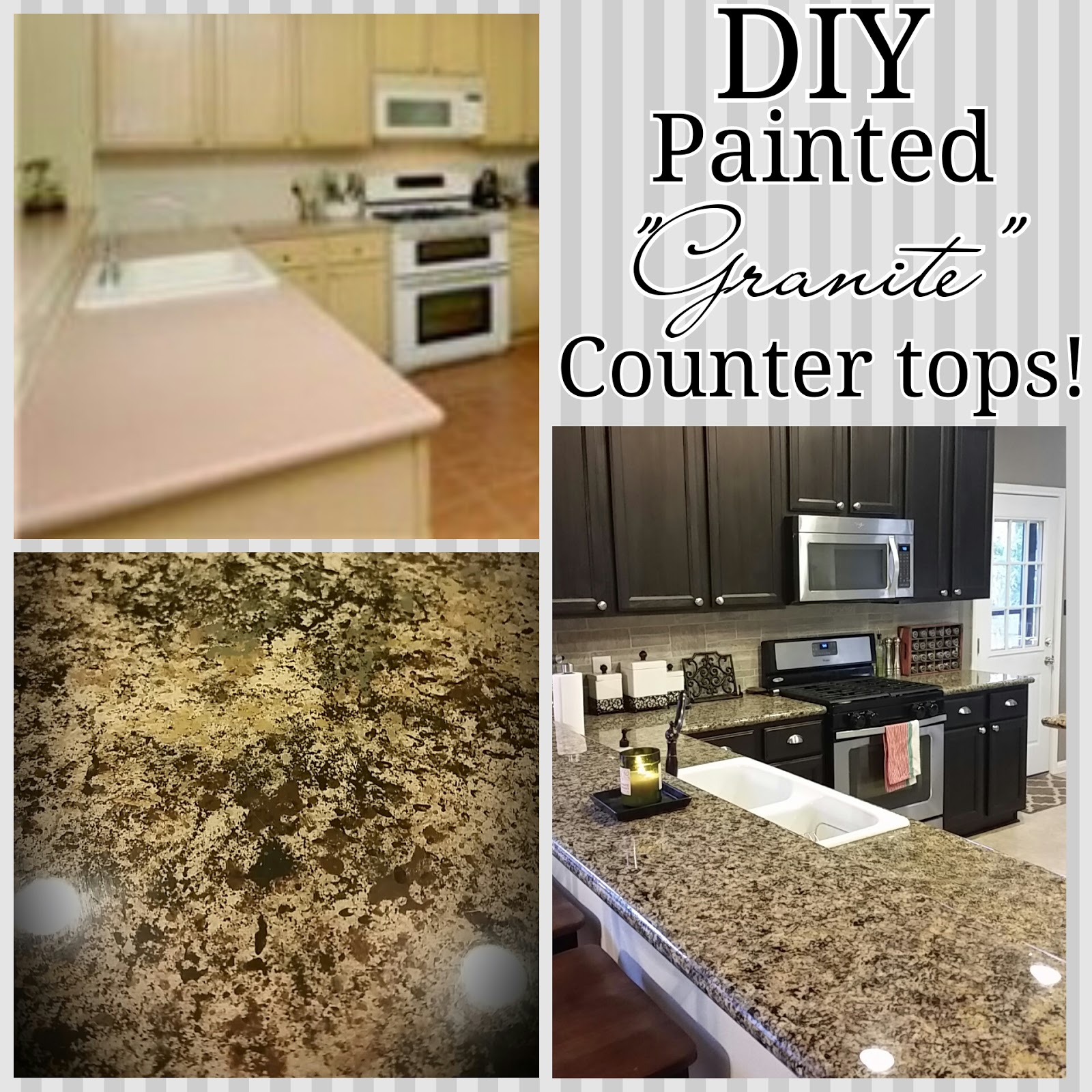Painted countertops to look like granite - Awesome Diyife June With Paint Countertops To Look Like Granite