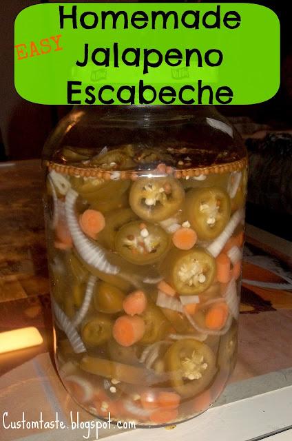 Homemade Jalapeno Escabecha by Custom Taste