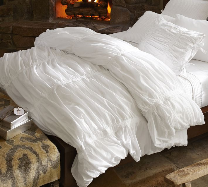 Dead Ringer Pottery Barn Hadley Ruched Duvet Cover The