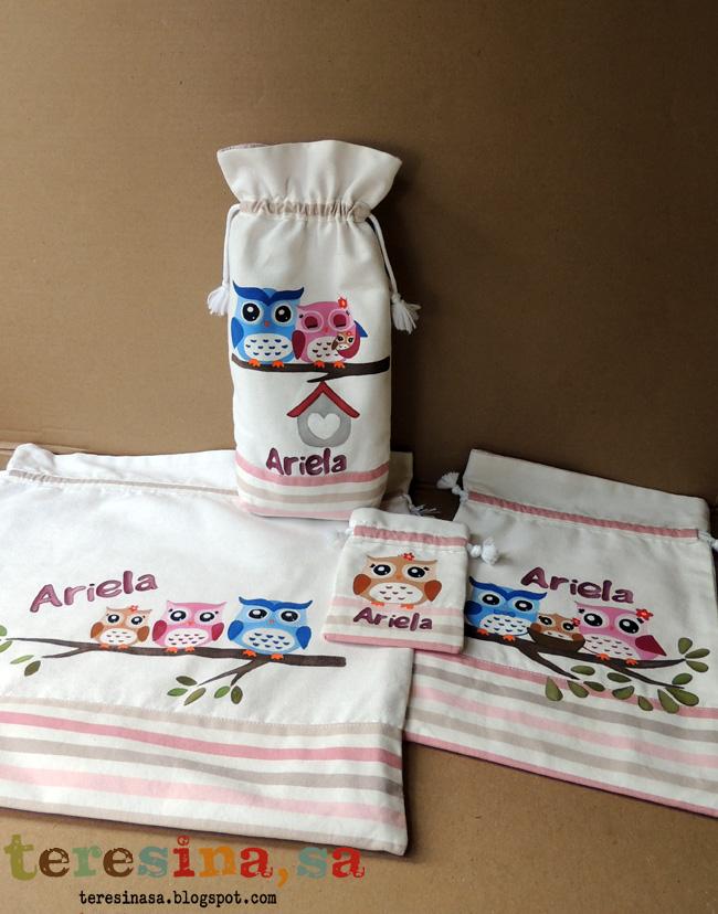 Conjunto de bolsas para bebé