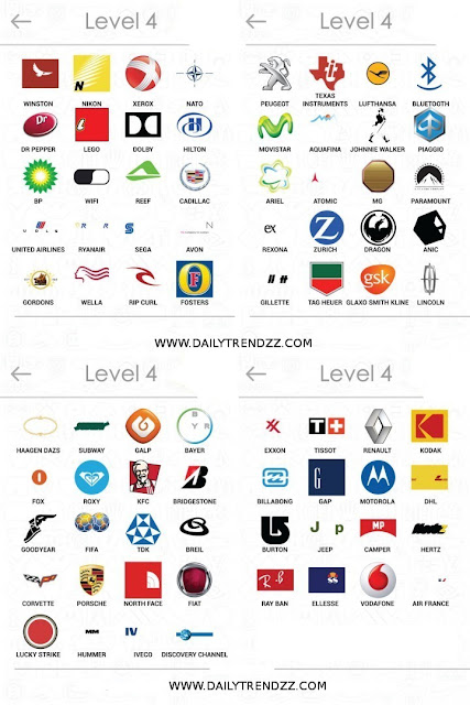 logos quiz answers level 4