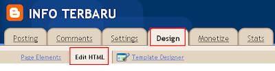 memasukkan kode widget kedalam blogger