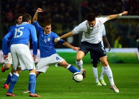 Hasil dan Cuplikan Video Gol Itali vs Perancis 1-2