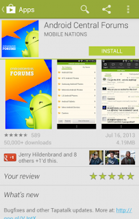 Android Central Forums App