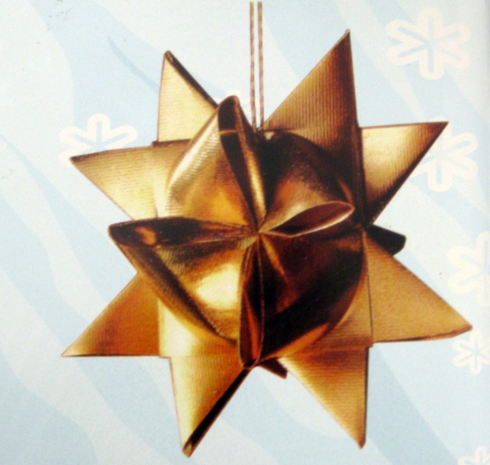 Estrella navide a de tela y papel - Papel y telas ...