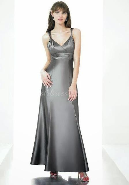 Long sexy Grey dress