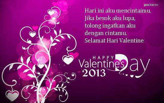 selamat hari valentine sayang