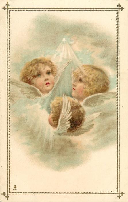 Старинные открытки с нем ангела 294