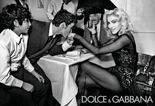 Madonna to pierwsza gwiazda reklamująca markę Dolce  & Gabbana