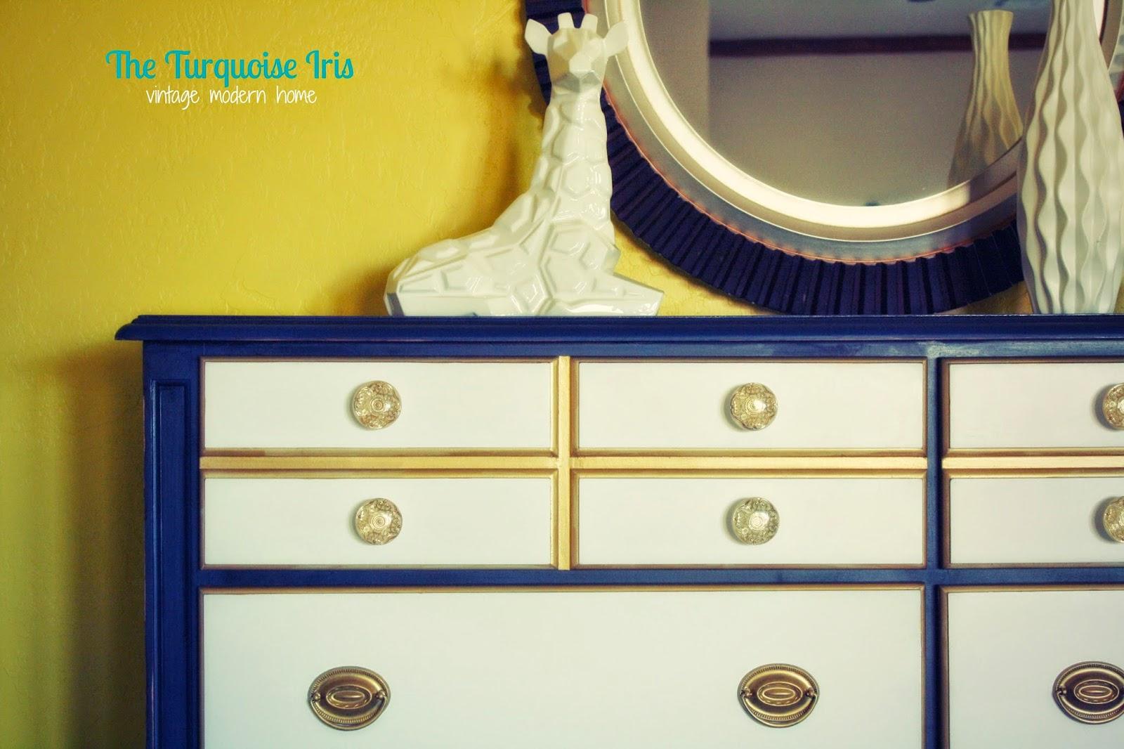 Navy Blue Dresser Bedroom Furniture The Turquoise Iris Vintage Modern Hand Painted Furniture Navy