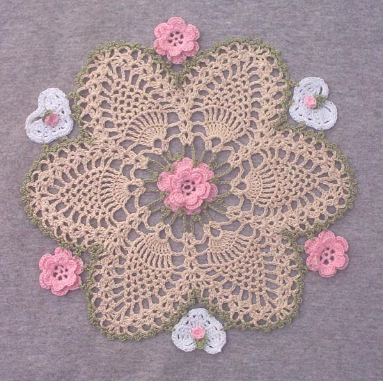 Free Knitting Flower Patterns : Flower pattern-Knitting Gallery