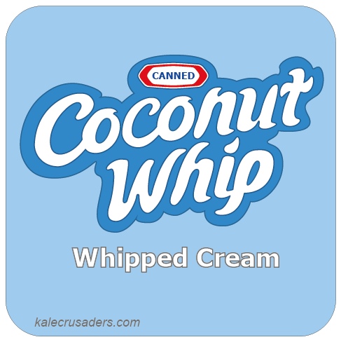 Canned Coconut Whip, Canned Coconut Milk Whipped Cream, Cool Whip Logo, Vegan Whipped Cream, Non-dairy Whipped Cream