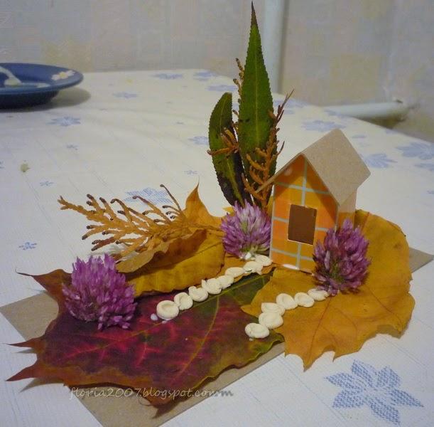 Поделки из цветов для детского сада на тему осень 98