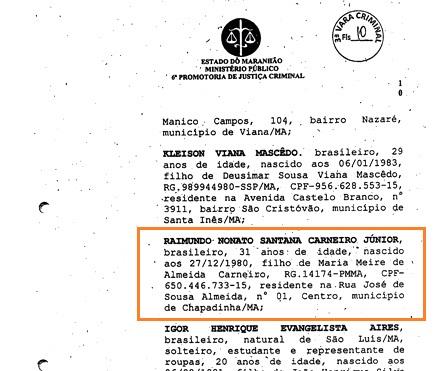 Chapadinha-MA: Jr. Carneiro teria se beneficiado na fraude do Ceuma