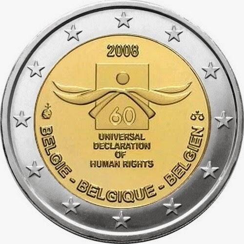 Belgian commemorative 2 euro coins