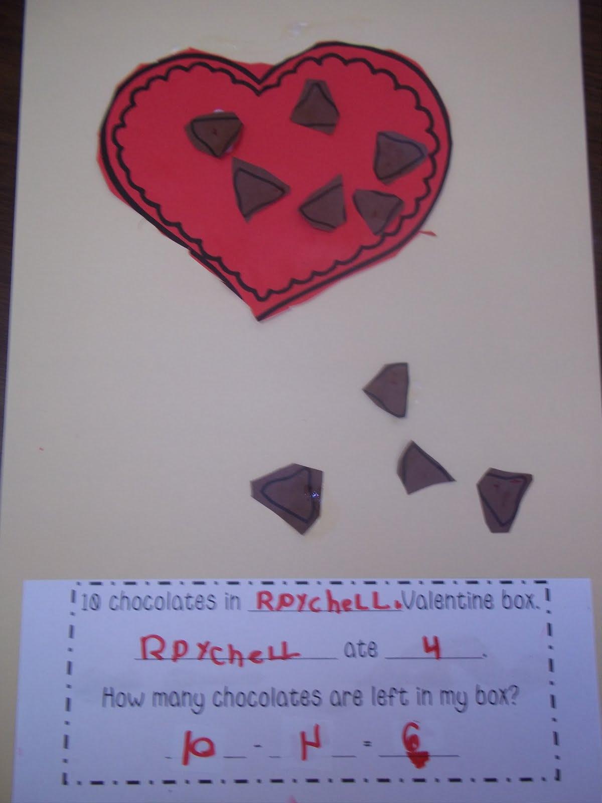 valentine math - Valentines For Kindergarten Class