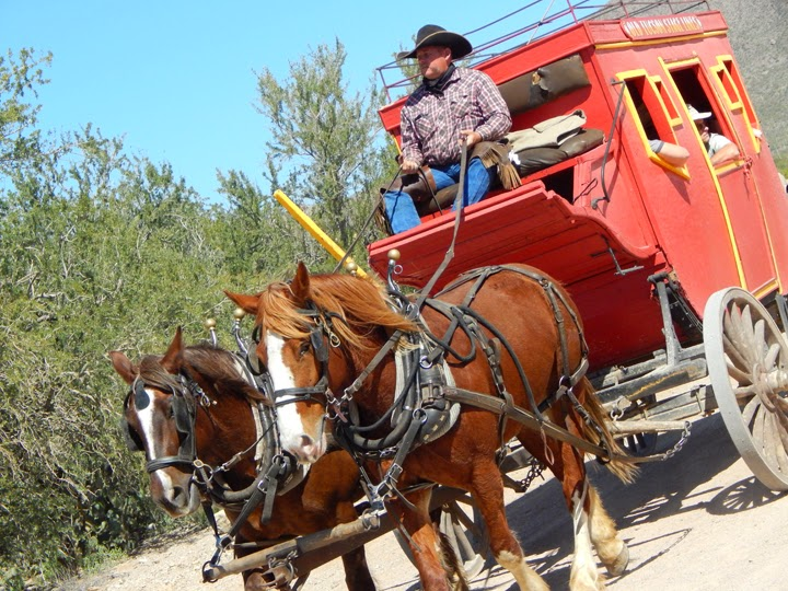 carriage and horses at Old Tucson Studio