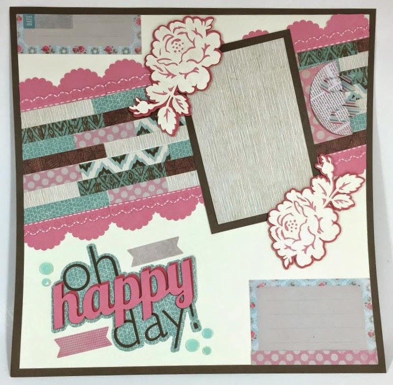 Cricut Happy Day Scrapbook Layout