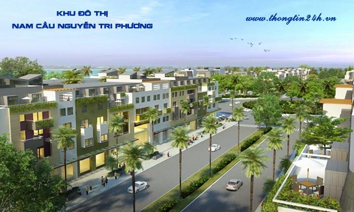Phối cảnh nhà liền kề khu đô thị Nam cầu Nguyễn Tri Phương