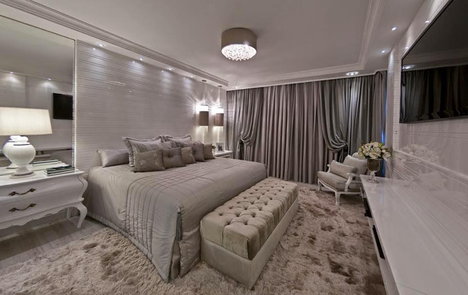 12 Quartos de Casal com decoração clássica e contemporânea  ~ Quarto Casal Luxuoso