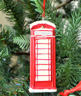 George at ASDA Christmas range 2015 Telephone box decoration