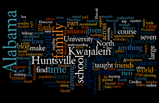 Wannetta Fincher's awesome wordle about her life